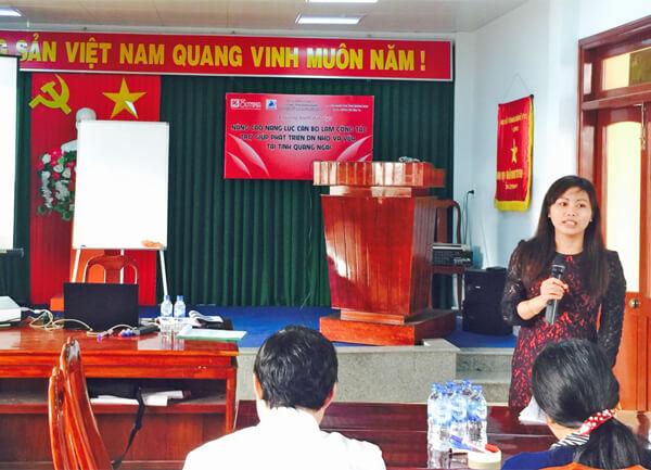 Nâng cao năng lực cán bộ làm công tác trợ giúp phát triển DNNVV tại tỉnh Quảng Ngãi