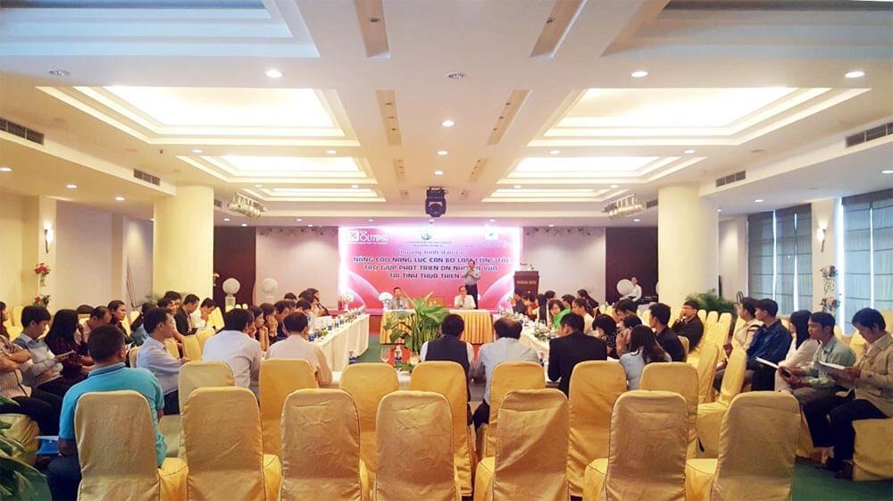 Tổ chức khóa đào tạo Nâng cao năng lực làm công tác trợ giúp phát triển DNNVV tại Huế