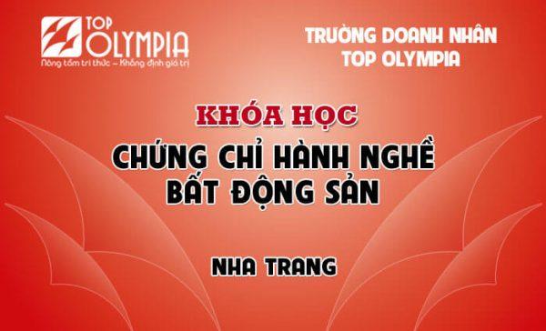 Khóa học Chứng chỉ hành nghề Bất động sản tại Nha Trang