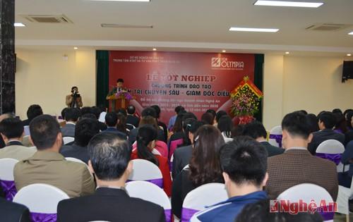 Bế giảng lớp Giám đốc điều hành doanh nghiệp ngày 06/12 tại Nghệ An