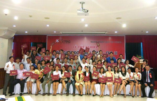 Tổ chức lễ tốt nghiệp lớp CEO 31 và HRM 20 tại Đà Nẵng