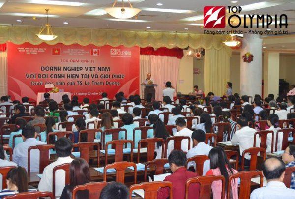 Tọa đàm Doanh nghiệp Việt Nam với bối cảnh hiện tại và giải pháp dưới góc nhìn của TS. Lê Thẩm Dương tổ chức tại Sóc Trăng