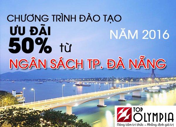 Chương trình đào tạo ưu đãi 50% từ ngân sách tp Đà Nẵng 2016