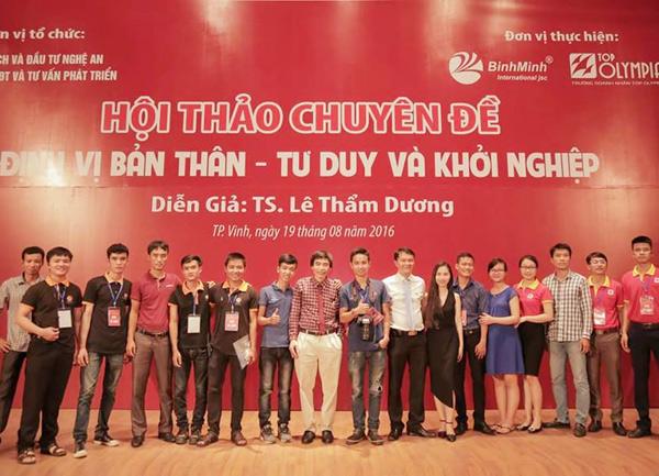 Tổ chức hội thảo Định vị bản thân - Tư duy và khởi nghiệp tại Nghệ An