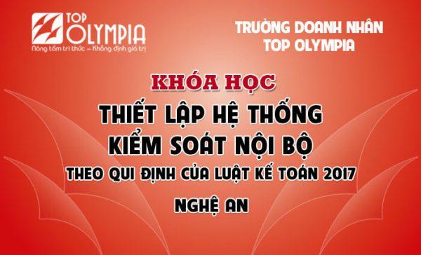 Khóa học Thiết lập hệ thống kiểm soát nội bộ tại Nghệ An