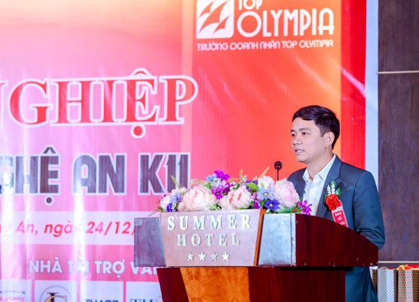 ông Hoàng Vĩnh Trường – Giám đốc Trung tâm Hỗ trợ Doanh nghiệp phát biểu