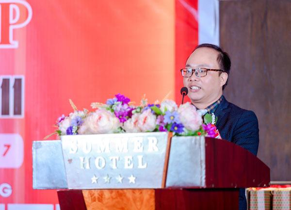 TS. Lê Đỗ Duy Ân – Giảng viên cao cấp trường doanh nhân Top Olympia phát biểu