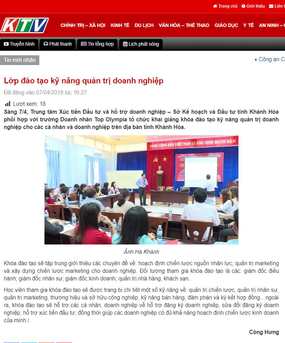 Lớp đào tạo kỹ năng quản trị doanh nghiệp tại Khánh Hòa