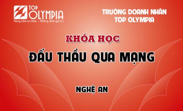Khóa học đấu thầu qua mạng tại Nghệ An