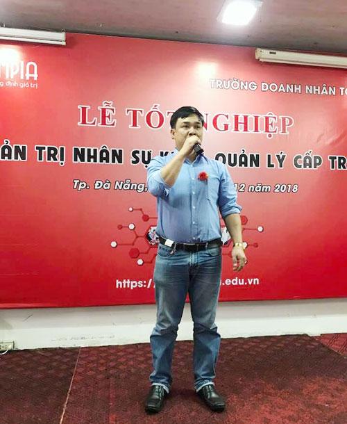 lớp trưởng Nguyễn Văn Nghĩa gửi lời cảm ơn