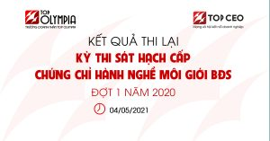 Ket Qua Thi Lai Ky Thi Sat Hach Cap Chung Chi Hanh Nghe Moi Gioi Bds Dot 1 Nam 2020