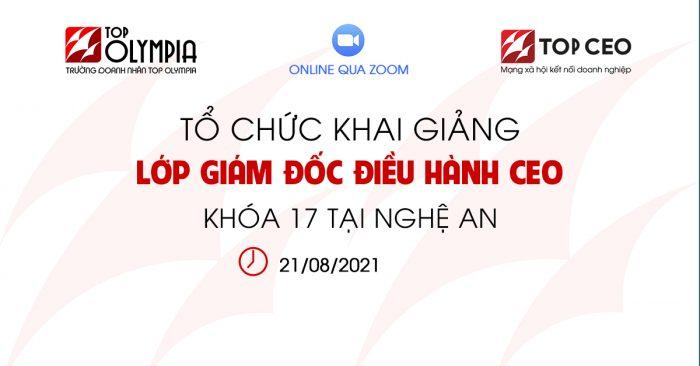 Khai Giang Lop Giam Doc Dieu Hanh Ceo K17 Tai Nghe An